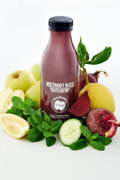 beetroot blast, food, stylist, orchard on long, cape town, long street, juice, health, photography
